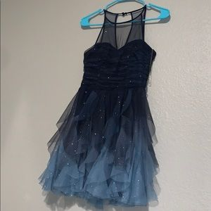 Ombré sparkly homecoming dress